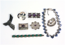 Group of Mexican Sterling Silver Jewelry Items
