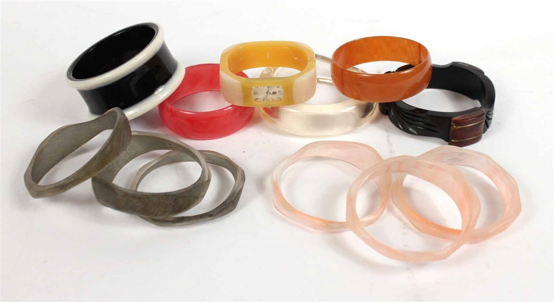 Group of Resin Bangle Bracelets