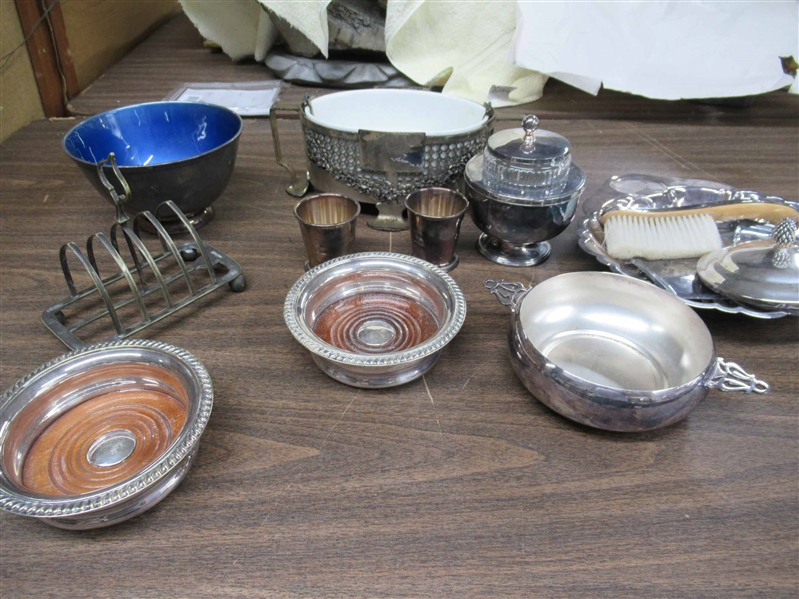 Group of Assorted Silver Plated Table Articles