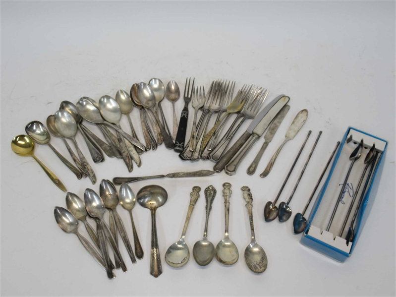 Group of Assorted Silver Plated Flatware