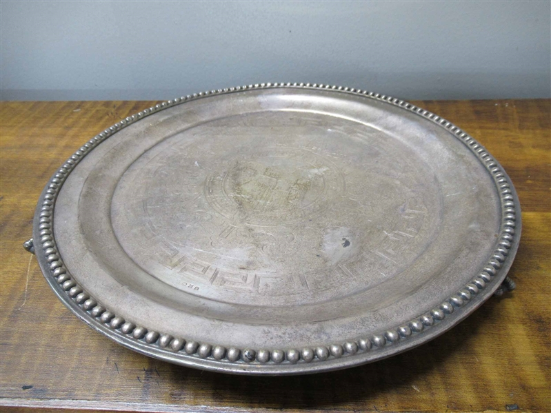 Continental Silver Footed Circular Tray