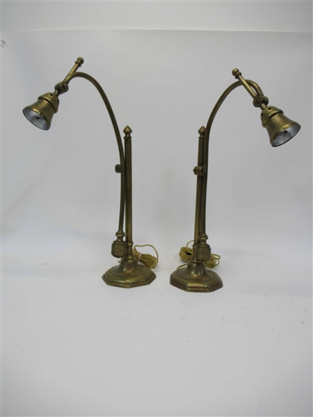 Two Dulruc Rosset Bronze Finish Table Lamps