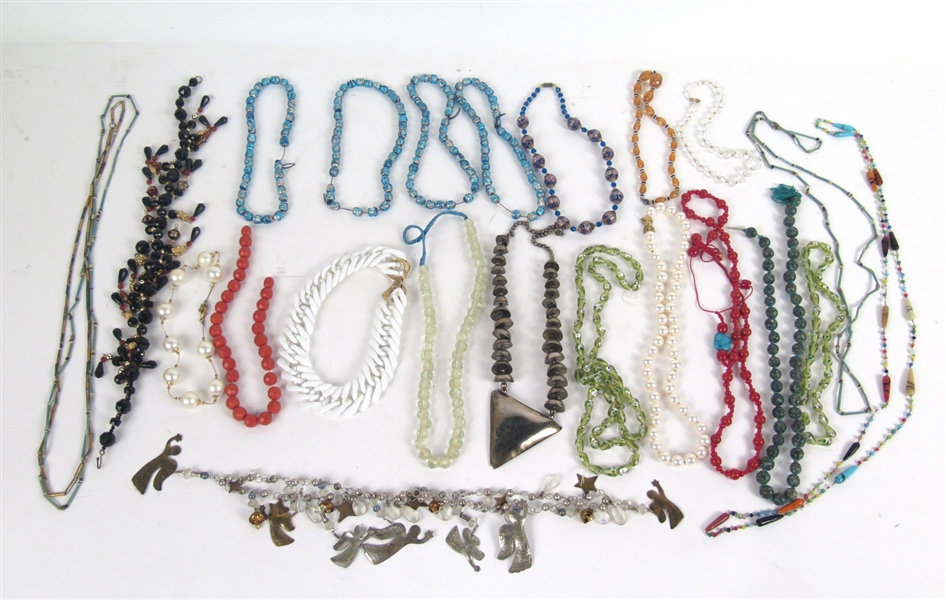 Large Group of Beaded Necklaces