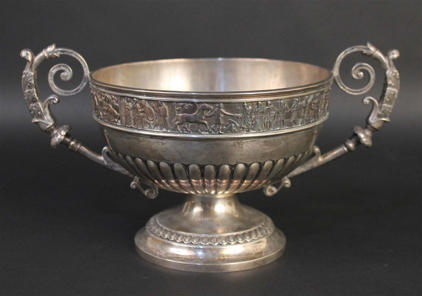 George V English Silver Two Handled Bowl