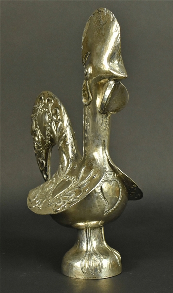 Portuguese Silver Figure of a Rooster