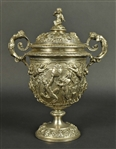 Italian Silver Two-Handled Cup and Cover