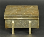 Japanese Silver Wood Lined Box
