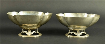 Near Pair of Randahl Sterling Silver Small Bowls