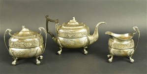 George Forbes Silver Three Piece Tea Set