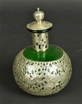 Chinese Export Silver Mounted Glass Perfume