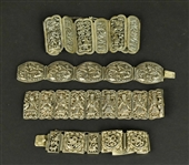 Four Chinese Export Silver Bracelets