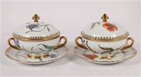 Two Bing & Grondahl Covered Bouillon Bowls