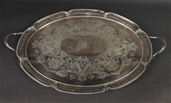 Silver Plated Double Handled Tea Tray