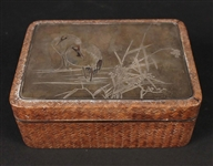 Japanese Silver-Mounted Table Box