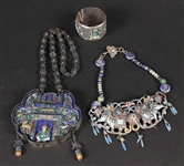Group of Chinese & Japanese Silver & Enamel