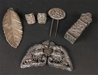 Group of Chinese & Japanese Silver Small Items