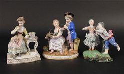 Two Meissen Porcelain Figural Groups