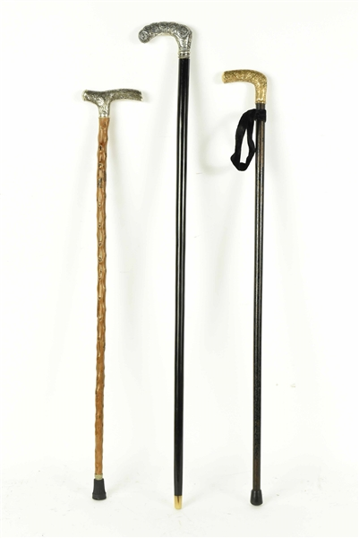 Three Gentlemens Walking Sticks