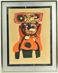 Print, Abstract Portrait, Karel Appel