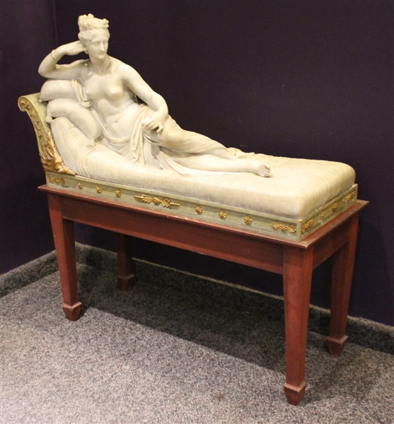 Carved Marble Sculpture of Pauline Bonaparte