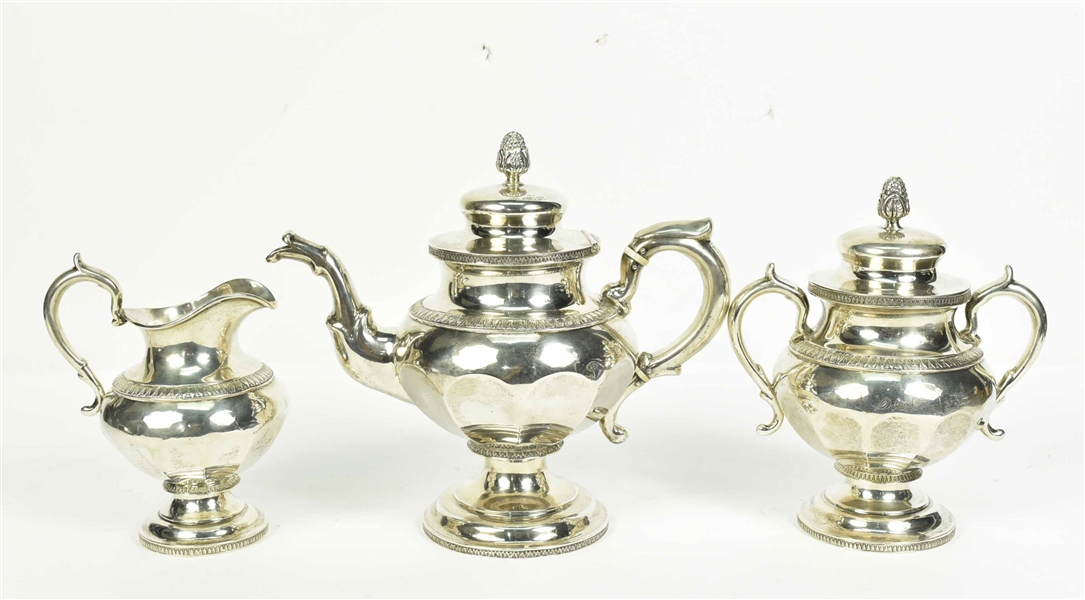 Mulford &Wendell American Coin Silver Tea Service