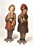 Pair of Painted Wood Figural Panels of Children