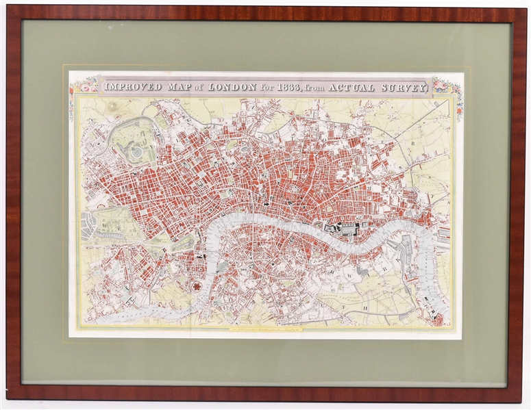 Improved Map of London for 1833