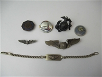 Sterling Silver WWII Military Wings