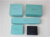 Group of 5 Assorted Tiffany & Co. Jewelry Boxes