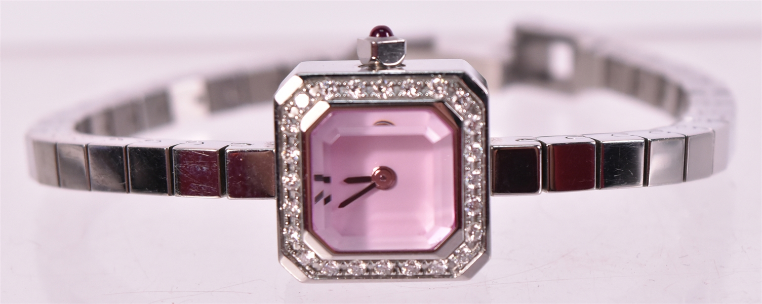 Corum Sugar Cube Stainless Steel & Diamond Watch