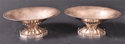 Pair of George Jensen Sterling Footed Compotes