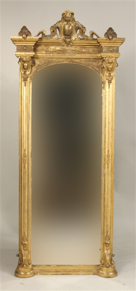 Neoclassical Giltwood Pier Mirror