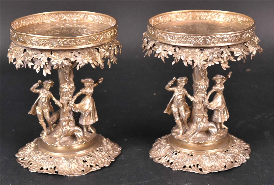 Pair of German Silver-Gilt Compote Stands
