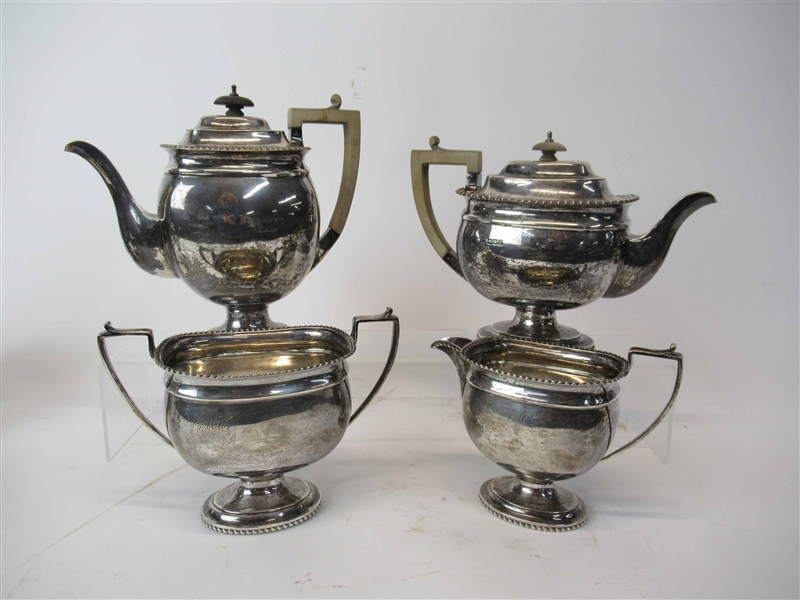 Four Piece English Silver Tea & Coffee Service