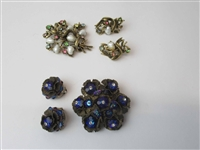 Cora Pearl Brooch and Earring Set