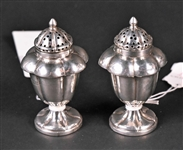 Pair of Indian Colonial Silver Salt & Pepper