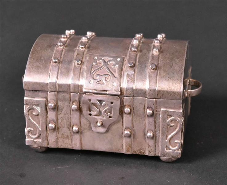 Fred Davis Mexican Sterling Silver Trunk Form Box