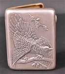 Eagle Chased Cover Russian Silver Cigar Case