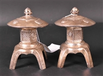 Pair of Chinese Export Silver Salt and Pepper Shakers