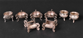 Group of Chinese Export Silver Salt Cellars