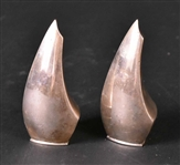 Pair of ABSA Denmark Sterling Silver Shakers