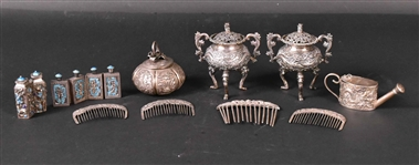 Group of Chinese Export Silver Objects
