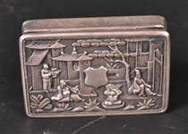 Chinese Export Silver Snuff Box
