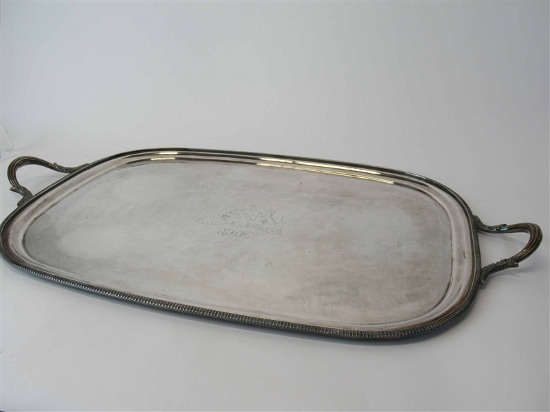 Large English Silver Plated Serving Tray