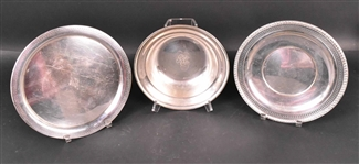 Gorham Sterling Silver Bowl and Pierced Tray