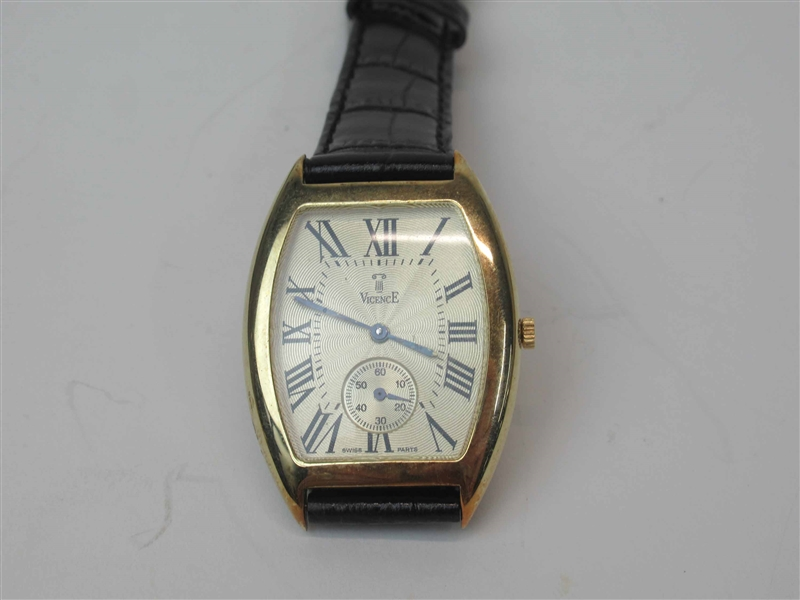 14k Mens Vicence Wrist Watch