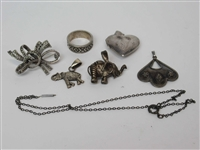 Group of Silvered Jewelry