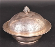 Tiffany  & Co American Silver Covered Butter Dish