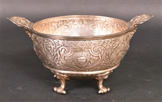 Victorian Silver Two-Handled Footed Bowl