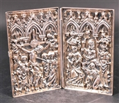 German Silver Gilt Diptych